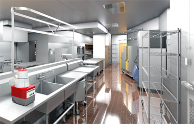 Commercial Kitchen, 3D Revit Symbols